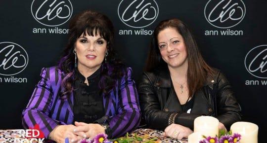 Heart tribute band singer Jennifer Schafer (right) with Heart singer Ann Wilson