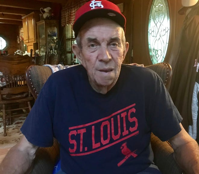 James Smith, 82, of Aurora,  is disappointed and frustrated  that he no longer can watch the St. Louis Cardinals, who are in the midst of an end-of-season battle for the division title, on Dish Network. It's because of a contract dispute between Dish Network and Fox Midwest Sports.  Smith is a lifelong Cardinals fan who suffers from Parkinson's disease.
