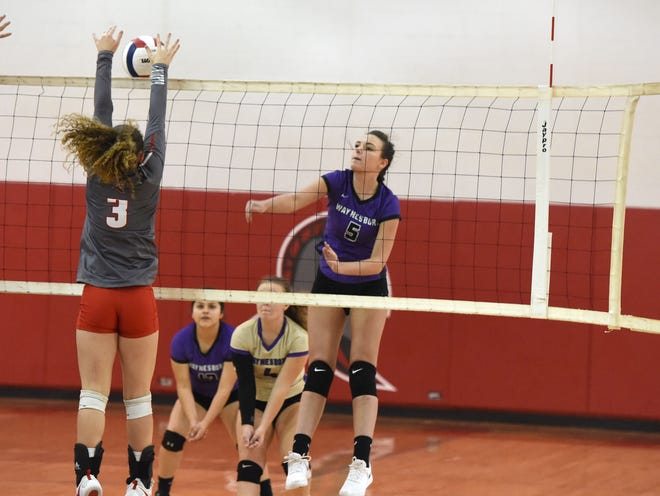 Waynesboro's Jada Keene, who is headed to Mary Baldwin University next year, finished the season with 231 kills for the Little Giants.