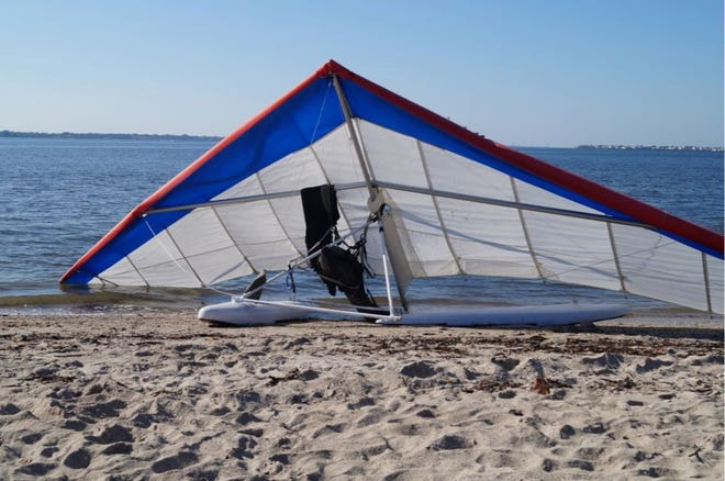 The hang glider used during a crash that left one Stuart man dead earlier this year.