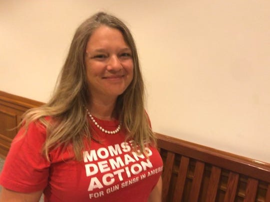 Molly Bursey, of the Texas chapter of Moms Demand Action in the Capitol, Spet. 17, 2019.
