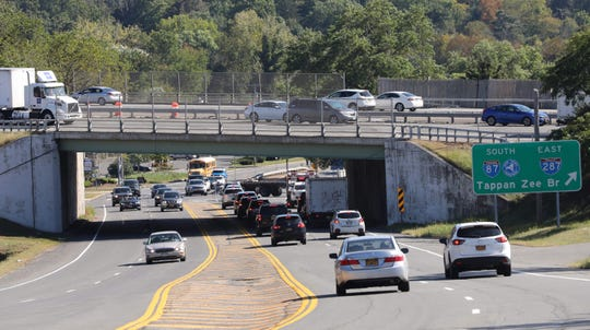 This is view of bridge of I-87 over Route 303 in Nyack Sept.17, 2019. Thirteen percent of bridges in the Hudson Valley are rated in poor/structurally deficient condition, according to a new report released today by TRIP, a Washington, DC based national transportation research nonprofit.