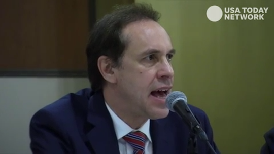 New York Health Commissioner Howard Zucker speaks about the state's move to ban flavored e-cigarette liquids; Sept. 17, 2019.