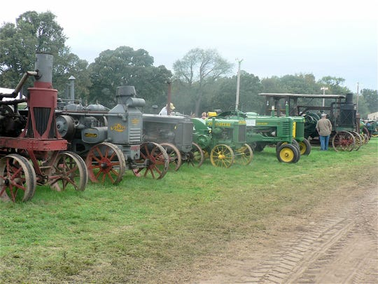 An antique tractor show is all about history.