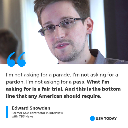 Edward Snowden regards himself as a whistleblower.