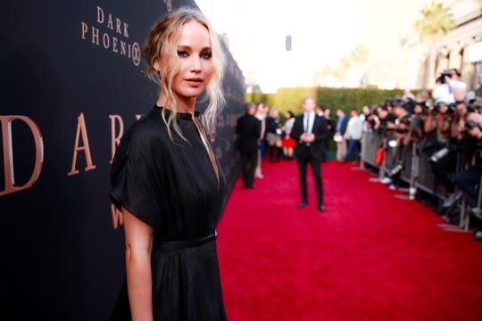 "Jennifer Lawrence walked the red carpet alone for the LA premiere of ""Dark Phoenix"" on June 4. She and Maroney are rarely photographed together at Hollywood events."