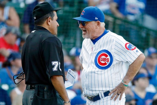 Joe Maddon's contract with the Cubs is up after the season.