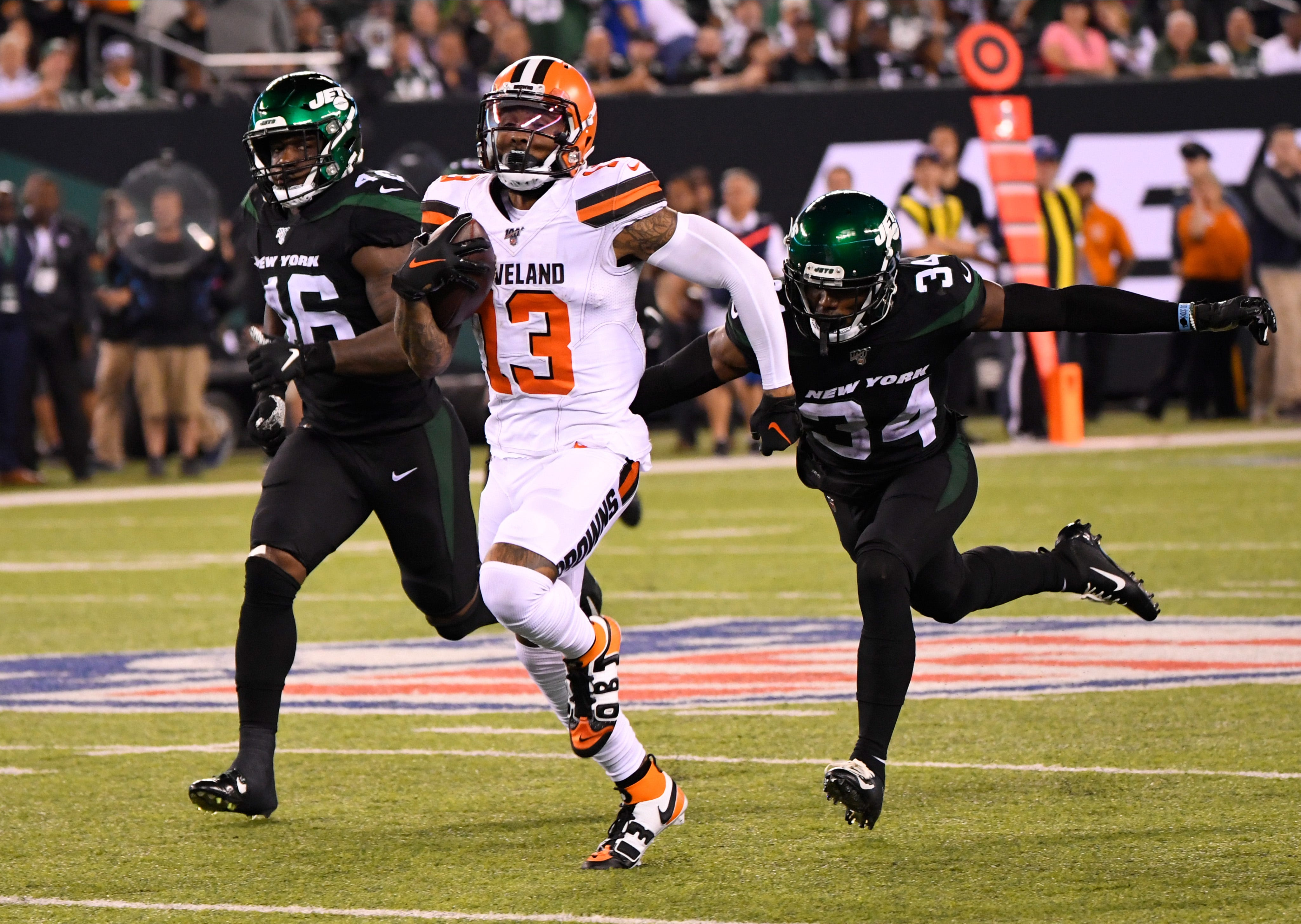 Odell Beckham Jr. has big game as Cleveland Browns topple undermanned New York Jets thumbnail
