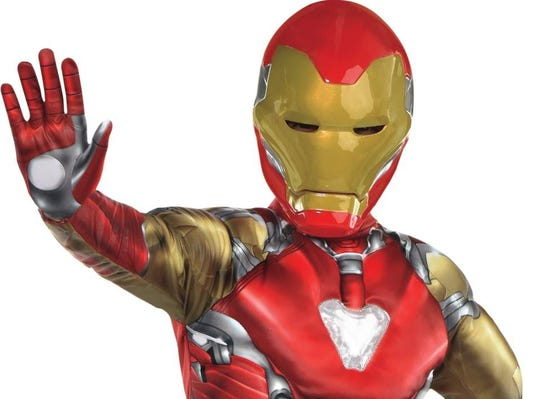 Marvel superheroes have been strong contenders as most popular costumes for the last two years. Iron Man sells for about $30 at Party City.
