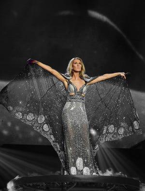 Celine Dion performs in Las Vegas in 2019.