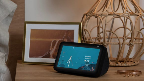 The Echo Show 5 pairs Alexa with a striking smart display and camera.