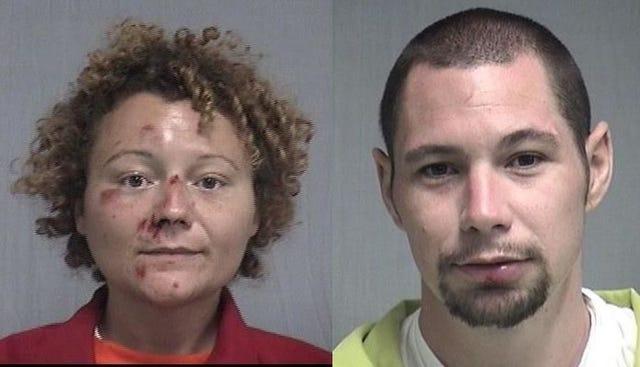 (From left) Megan Mondanaro, 35, and Aaron Thomas, 31.