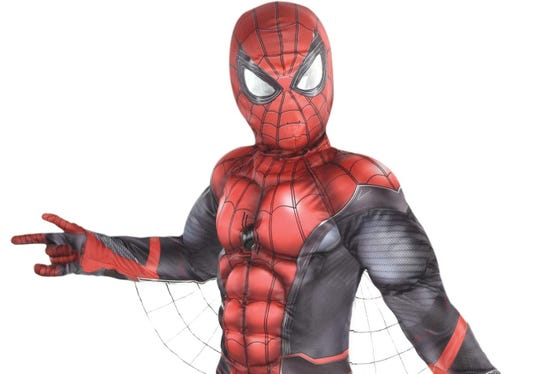 Spider-Man has made the most popular Halloween costume list for the third year in a row, according to the National Retail Federation. This Party City costume retails for about $40.