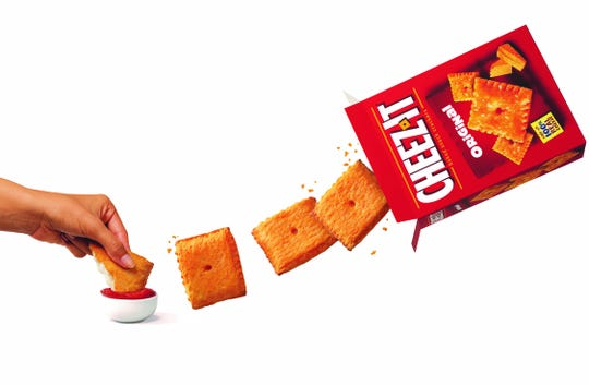 Pizza Hut has Stuffed Cheez-It Pizza for a limited time.