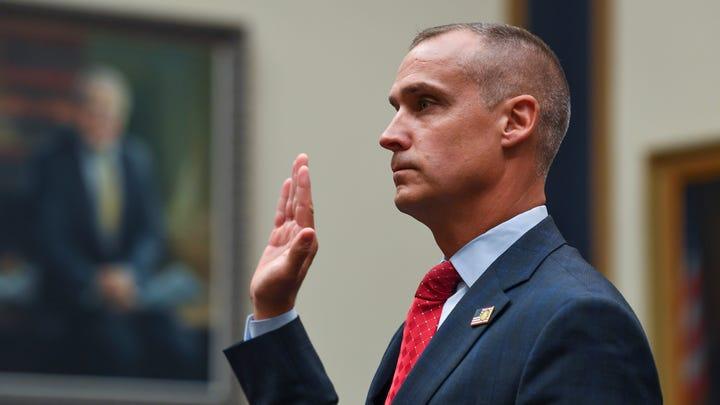 Corey Lewandowski, former campaign manager for President Trump, appears before the House Judiciary committee during a hearing on Presidential Obstruction of Justice and Abuse of Power on Sept. 17, 2019 in Washington alongside empty chairs of Rick Dearborn, former White House Deputy Chief of Staff, and Robert Porter, former Assistant to the President, both refused to appear before the committee under subpoena.