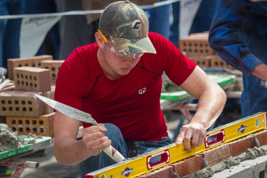 The SPEC MIX BRICKLAYER 500 Wisconsin Regional features a competition for students who are interested in masonry.