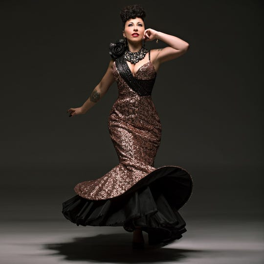 Trenton-native, Brooklyn-based burlesque performer and producer Angie Pontani.