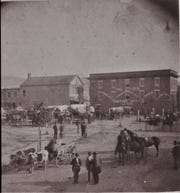 Public Square, 1870, seven years before Thomas Weston visited Asheville.