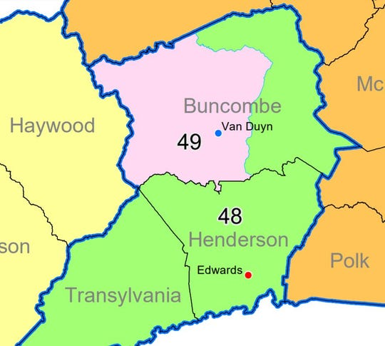 The new Senate districts for Buncombe, Henderson and Transylvania counties, approved Sept. 18, 2019, by a majority of the GOP-controlled General Assembly. A judicial panel that ordered the redrawing must still approve the maps.