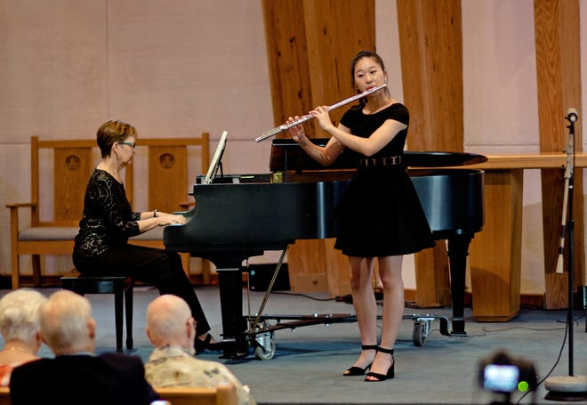 """Flute player Eunie Bae of Eau Gallie High School is one of five young musicians performing during September 29's""""Music on the River"""" free concert sponsored by the Creative Arts Foundation of Brevard."""