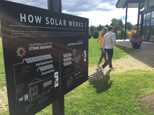 The Alchemist promotes the use of solar power at its brewery in Stowe.