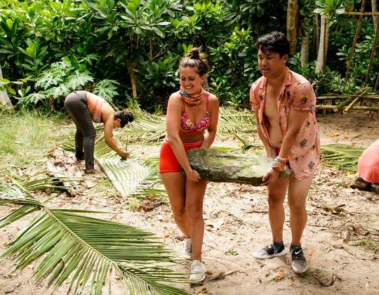Chelsea Walker and Vince Moua on  'Survivor: Island of Idols.'
