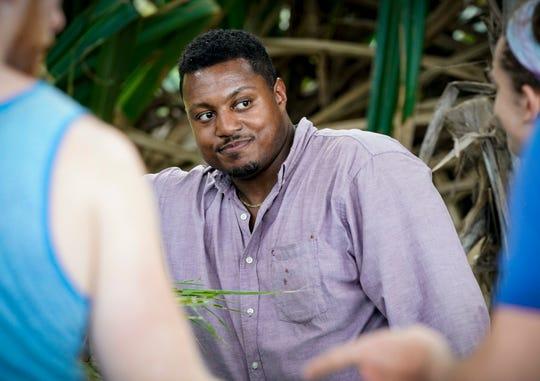 Jamal Shipman on  'Survivor: Island of Idols.'