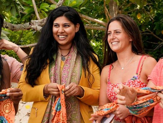 Karishma Patel and Chelsea Walker on 'Survivor Island of Idols.'