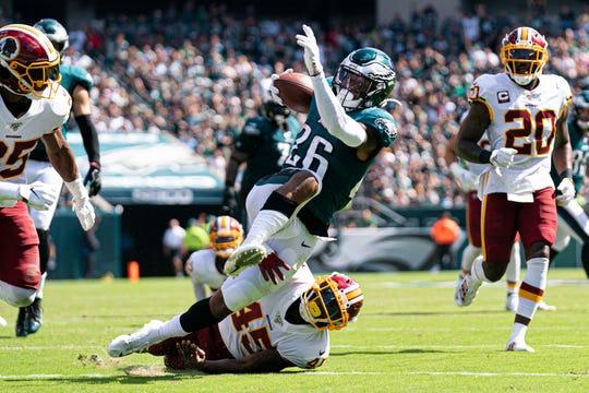 Eagles: Rookie running back Miles Sanders will get plenty of reps despite early struggles
