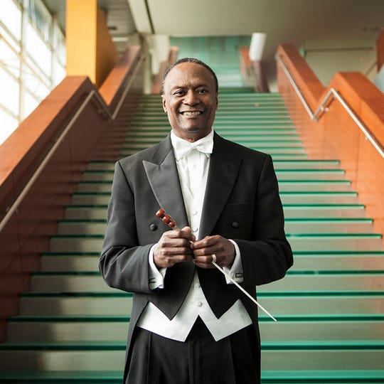 "On Nov. 15-16 conductor Thomas Wilkins, seen here, will lead the Cincinnati Symphony Orchestra in ""American Life,"" a program of works by African-American composers."