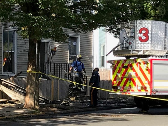 A vacant home at 124 Central Ave., Plainfield was heavily damaged in an early Wednesday morning fire.
