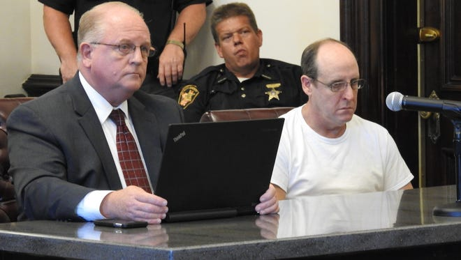 Attorney Jeffrey Mullen represented Michael Hamilton Wednesday in Coshocton County Common Pleas Court. He received eight years in prison and a lifetime driver's license suspension relating to the drunk driving death of Destiny Stull on March 1.