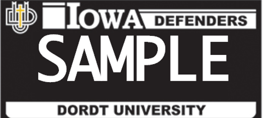 Controversy surrounding the modification of Dordt University special edition license plates led directly to the creation of the blackout license plates.