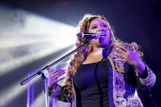 Kierra Sheard performed Friday at the Greater Emmanuel Institutional Church of God in Christ in Detroit.
