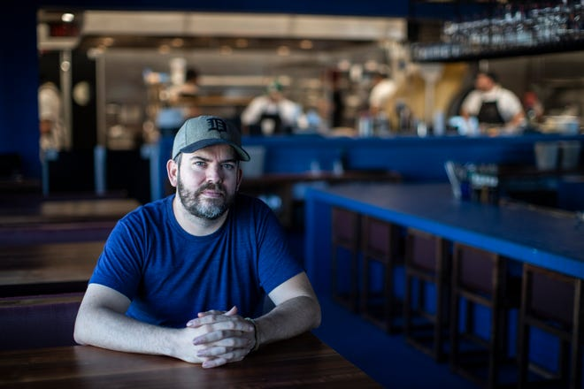 Chef and owner Brad Greenhill at Magnet in Detroit, Wednesday, September 18, 2019.
