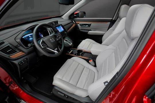 Interior of the 2020 CR-V Hybrid.