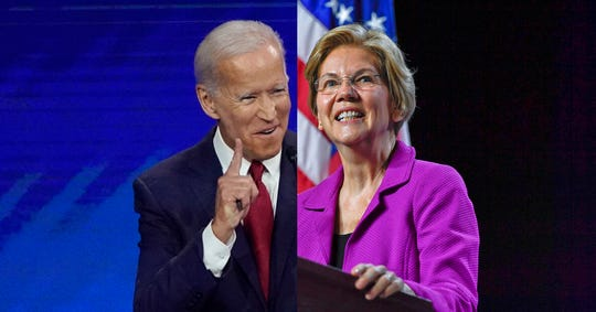 Joe Biden has regained a slight lead over Elizabeth Warren in Iowa, although the two are still within a statistical tie