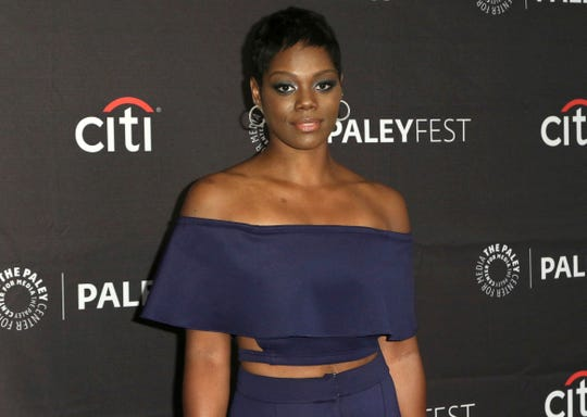 """This Sept. 8, 2018, file photo shows Afton Williamson attending the PaleyFest Fall TV Previews of """"The Rookie"""" at The Paley Center for Media in Beverly Hills, Calif."""