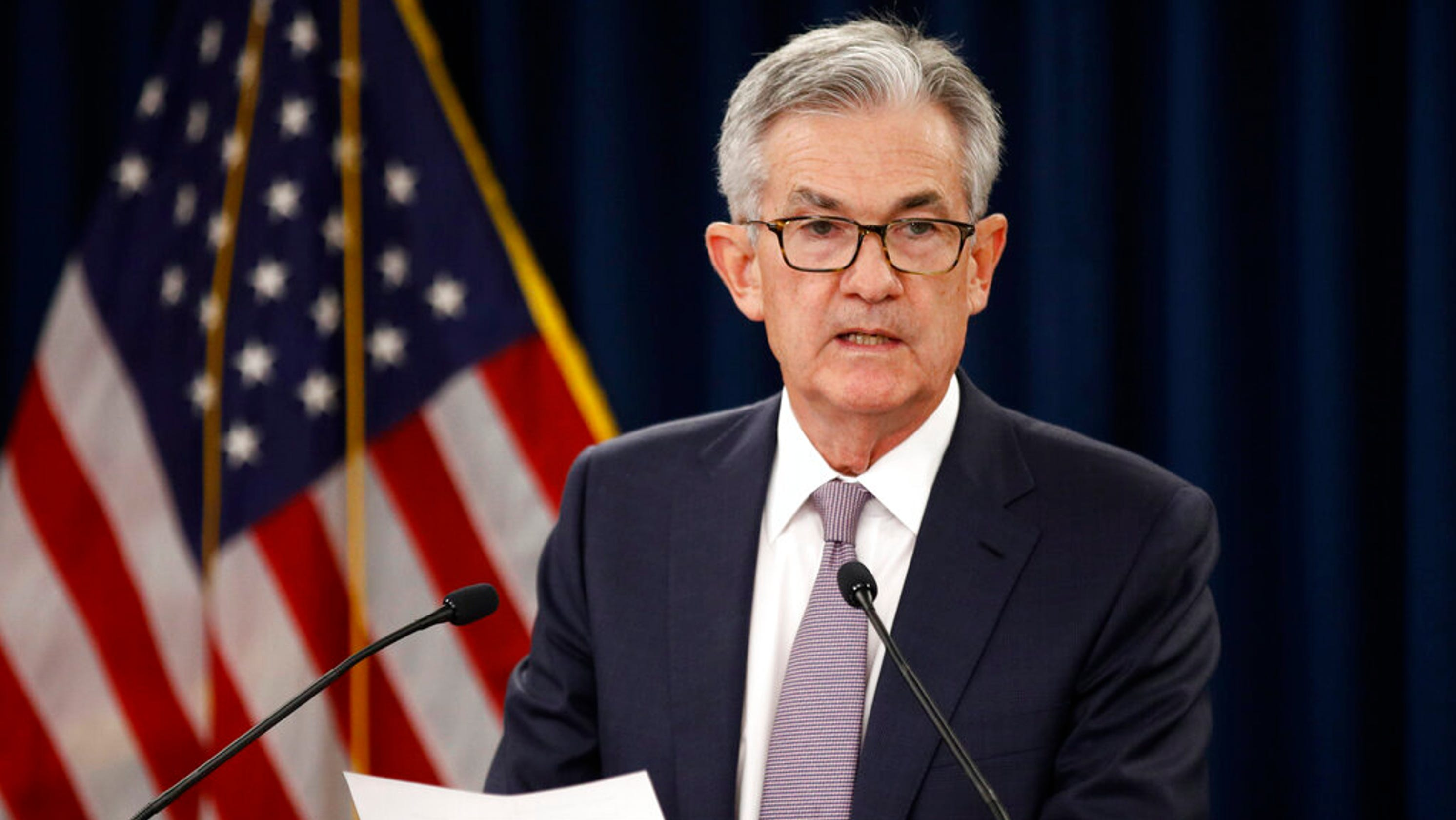 Fed chairman says goal is to keep economy in 'good place'