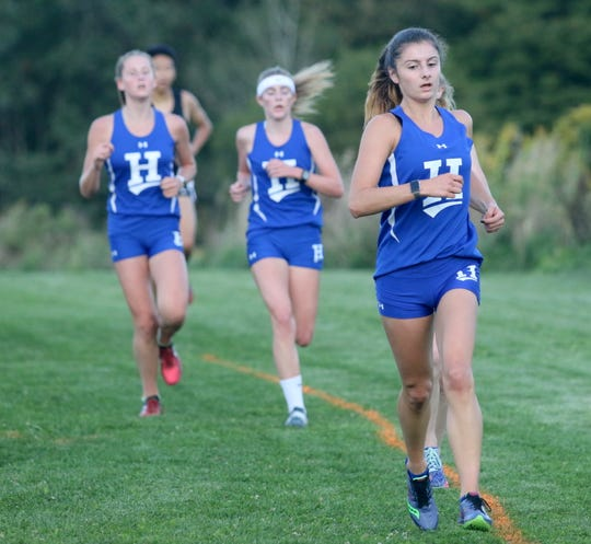 Horseheads girls runners compete in the STAC West divisional cross country meet Sept. 17, 2019 at the Murray Athletic Center in Pine Valley.