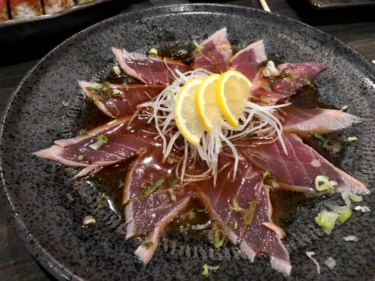 The classic tuna tataki ($12) from Maks.
