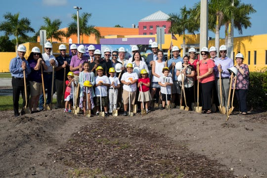 The Heights Foundation held the groundbreaking ceremony for the latest addition to the Heights Center campus, a 36,000 square-foot, three-story building that will house the Harlem Heights Community Charter School and GLAD early learning center on Wednesday, Sept. 18, 2019, in south Fort Myers.