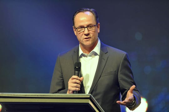 Wichita State basketball head coach Gregg Marshall was the guest speaker at Coaches 4 Character Tuesday, Sept 17, 2019 at Relentless Church.