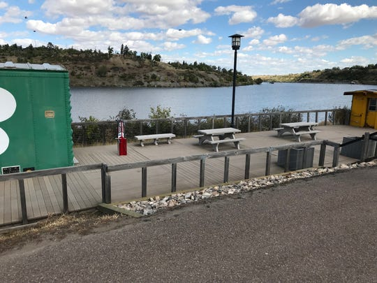The Caboose trailhead now has a bike repair station.