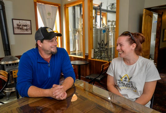 Brandon Roberts and Stacia Fuzesy recently opened Golden Triangle Brew Co. in a converted space at the Wake Cup Cafe in Fort Benton. The brewery is considered Montana's smallest, and the husband and wife duo are hoping convert the Wake Up Cafe's overflow seating area into a seperate taproom in the coming year.