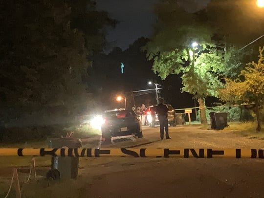 Hattiesburg police investigate the scene on the 400 block of Magnolia Avenue where a man was found dead around 7 p.m. Tuesday, Sept. 17, 2019, when responding to a report of shots fired.