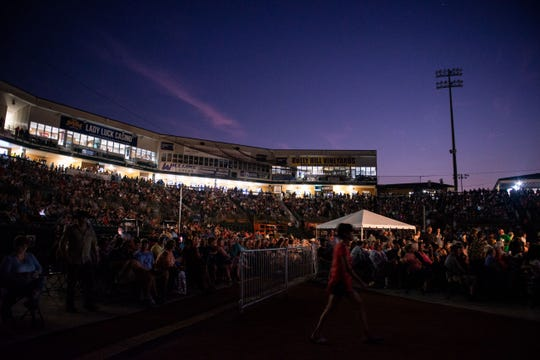 The Ballpark at Jackson hosted Willie Nelson and Alison Krauss for a concert Tuesday.
