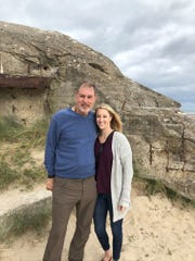 Mike and Alice Strange at Utah Beach, Sept. 6, 2019, 75 years after the D-Day landings in Normandy.