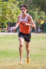 Brighton's Zach Stewart took first place in 15:32, leading the No. 1 Bulldogs past  No. 8 Salem and No. 14 Northville.