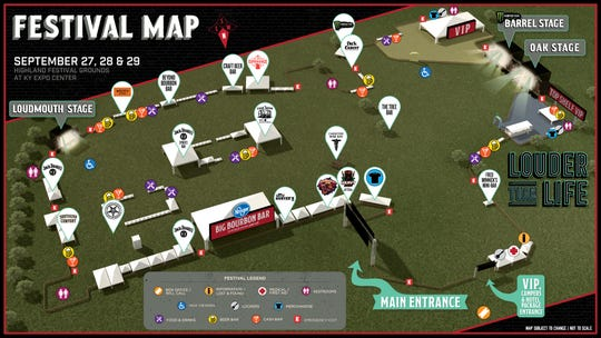 l2019 Louder Than Life festival map